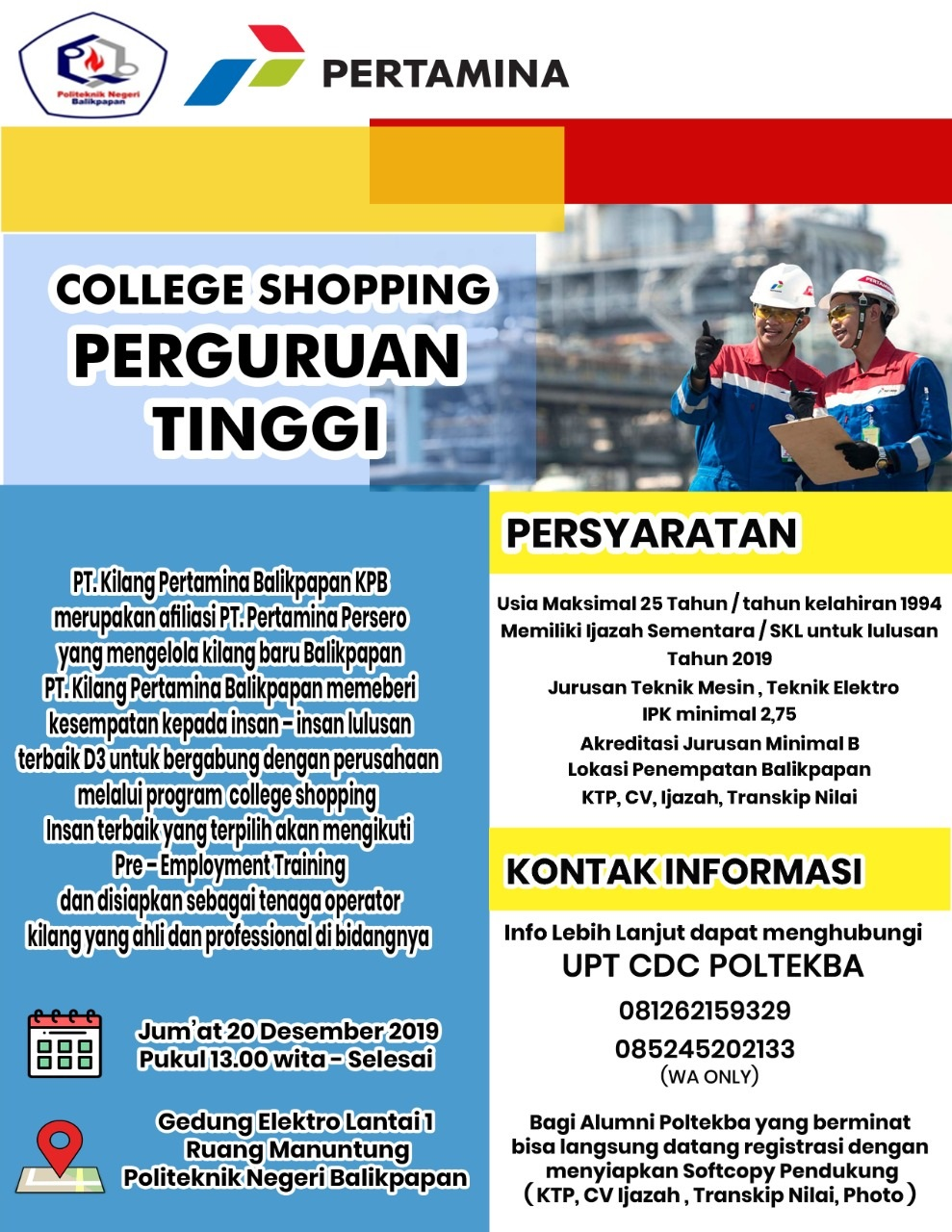 COLLEGE SHOPPING PT. PERTAMINA (PERSERO) 2019